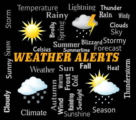 forecasts: Weather Alerts Showing Forecast Warning And Update