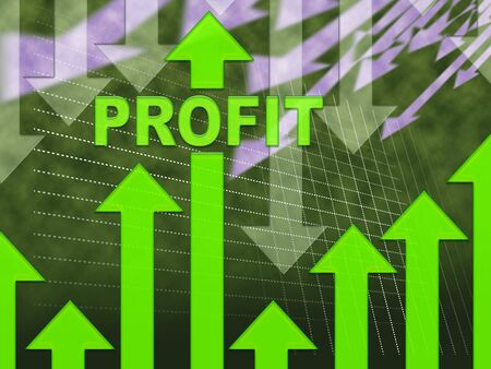 profit graph: Profit Graph Showing Growth Earning And Income