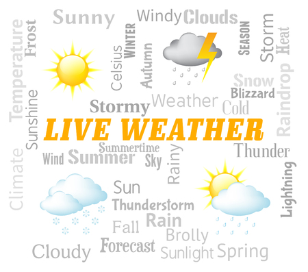 meteorological: Live Weather Representing Meteorological Conditions And Outlook Now