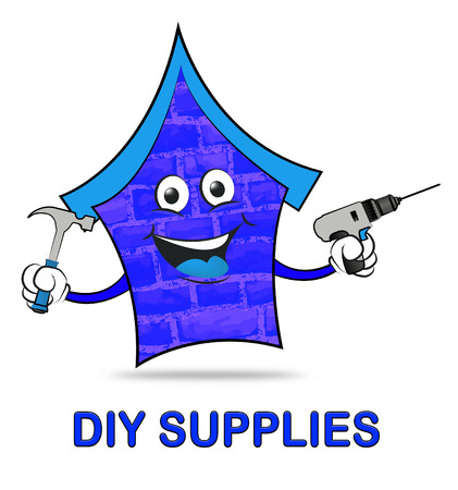 yourself: Diy Supplies Representing Do It Yourself Renovation