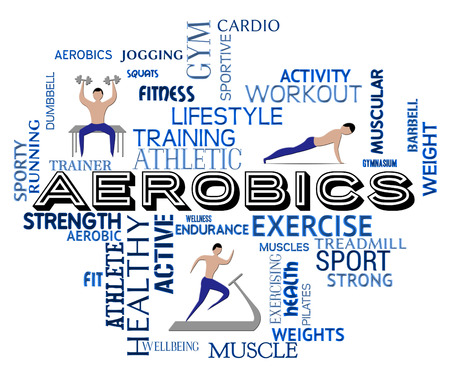 ejercicio aeróbico: Aerobics Fitness Meaning Getting Fit And Gym