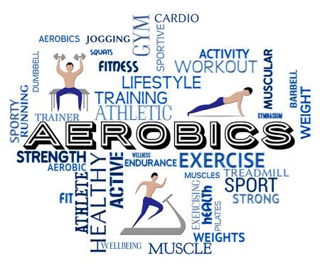ejercicio aeróbico: Significado aeróbicos aptitud ponerse en forma y gimnasio