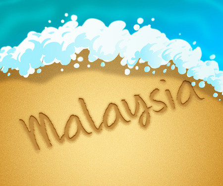 Malaysia Holiday Showing Vacation Asia 3d Illustration Stock Photo