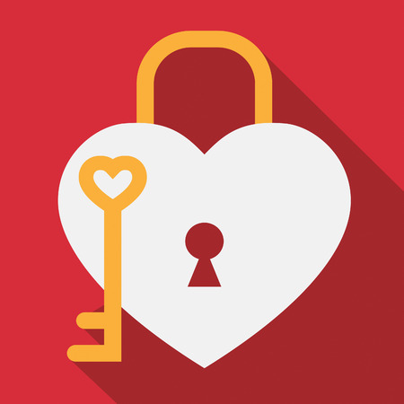 Hearts Lock Showing Valentines Day And Romance Stock Photo
