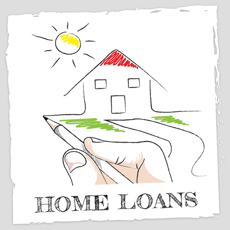 loaning: Home Loans Meaning Fund Homes And Borrowing