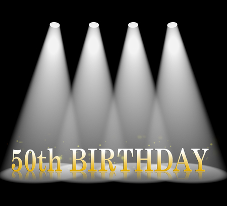 50th: Fiftieth Birthday Meaning 50th Greeting And Celebration Stock Photo