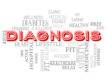diagnosing: Diagnosis Words Showing Diagnosing Health And Disease Stock Photo