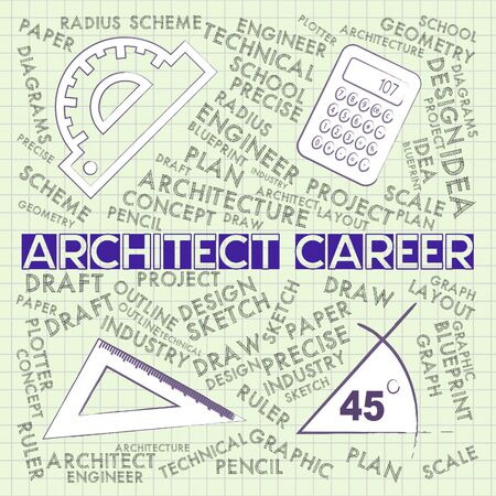 Architect career showing architecture design 3d illustration stock architect career showing architecture design 3d illustration stock illustration 61956265 malvernweather Images