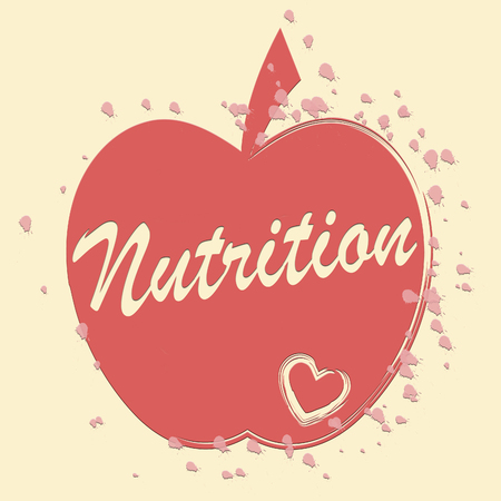nutriment: Nutrition Apple Meaning Food Nourishment And Nutriment Stock Photo