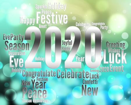 twenty two: Two Thosand Twenty Year Indicating 2020 Illustration
