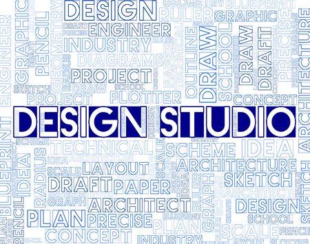 graphic designing: Design Studio Showing Designer Office And Creativity