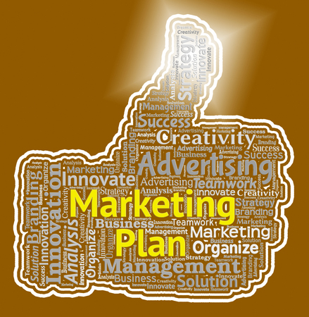 Marketing Plan Showing Emarketing Programme And Promotion Stock Photo
