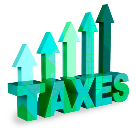 excise: Taxes Arrows Meaning Taxation Taxpayer 3d Rendering