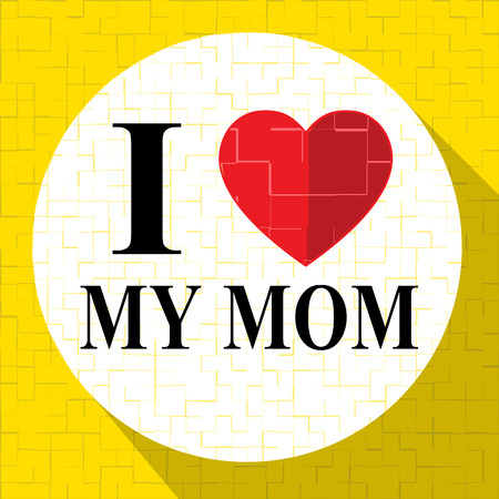 mamma: Love My Mom Representing Loving Mum And Mother