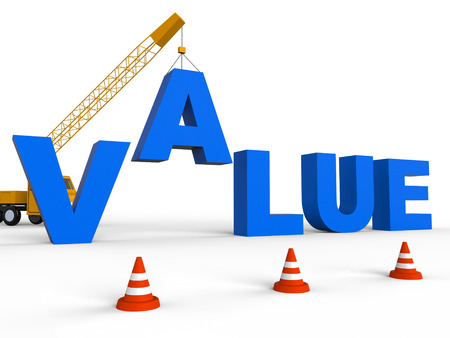 valued: Build Value Meaning Worth Cost 3d Rendering