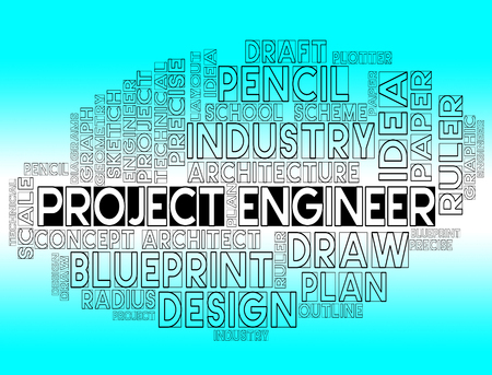 Project Engineer Showing Engineering Job Or Programme Stock Photo