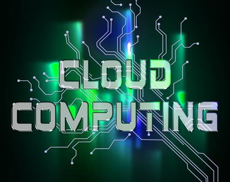 represents: Cloud Computing Represents Online Data And Storage