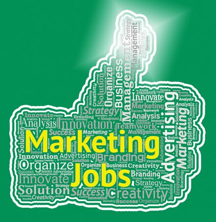 Marketing Jobs Thumb Representings Promotion Employment And Hiring Stock Photo