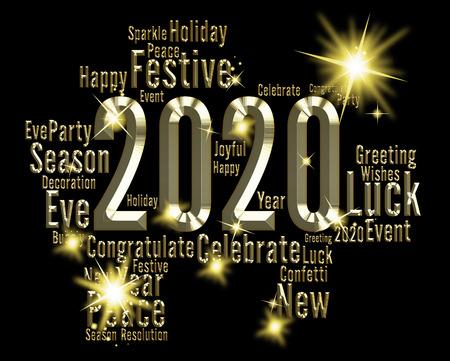 twenty two: Two Thosand Twenty Year Indicating 2020 3d Illustration Stock Photo