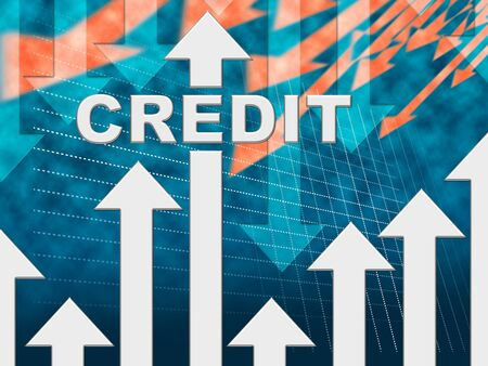 Credit Graph Indicating Finance And Loan Diagram Stock Photo