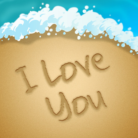 Love You Meaning Loving Passion 3d Illustration