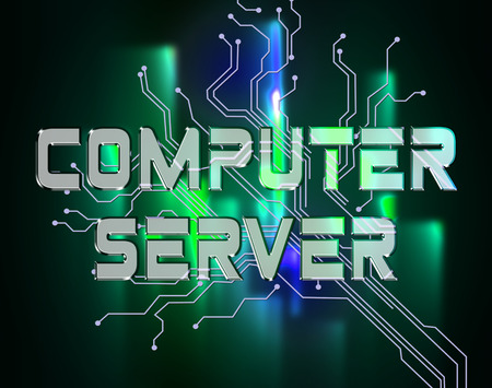 networked: Computer Server Representing Network Servers And Connection