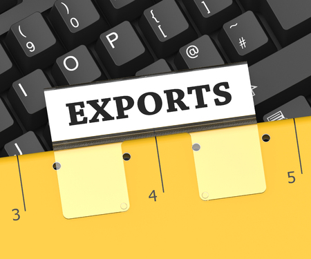 sell: Export File Showing Sell Overseas 3d Rendering Stock Photo