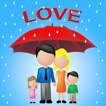 compassionate: Family Love Representing Caring And Compassionate Families