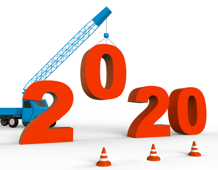 twenty two: Two Thousand Twenty Showing 2020 3d Rendering