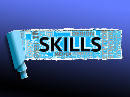 competent: Skills Word Representing Skilled Expertise And Competent