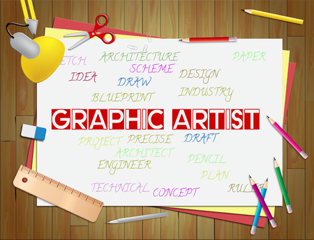 graphic artist: Graphic Artist Showings Artists Illustrations And Designers Stock Photo