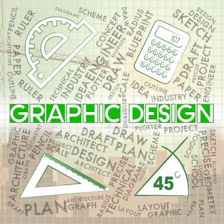 Graphic Design Representing Creative Illustrator And Designs