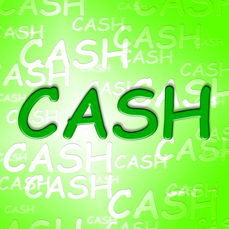 savers: Cash Words Showing Coins Currency And Money