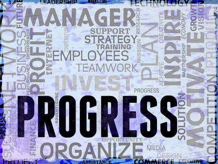 advancement: Progress Words Showing Betterment Headway And Advancement