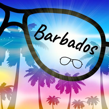 barbados: Barbados Vacation Indicating Caribbean Holiday And Leave
