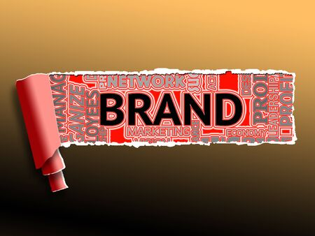 branded: Brand Word Indicating Company Identity 3d Illustration