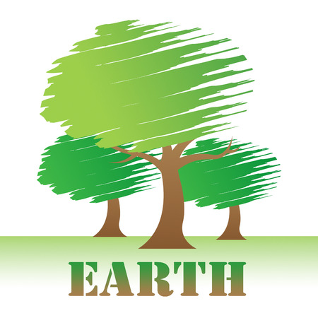 Earth Trees Representing Environment Forest And Nature