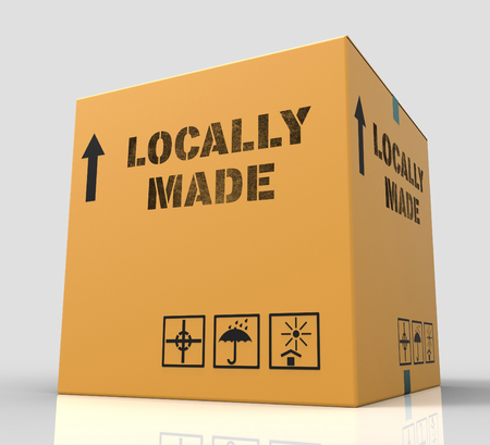 merchandise: Locally Made Representing Local Merchandise 3d Rendering Stock Photo