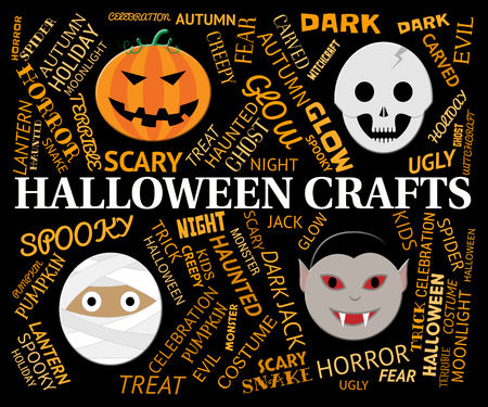 artistic designed: Halloween Crafts Meaning Creative Artwork And Designs