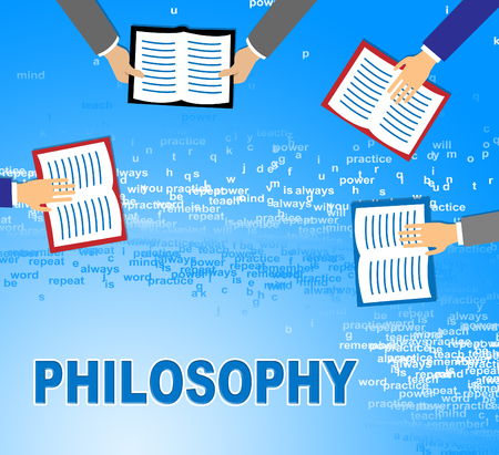 morality: Philosophy Books Showing Thinking Thought And Reasoning Stock Photo