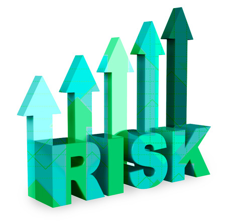 Risk Arrows Showing Caution And Danger 3d Rendering