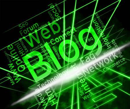 Blog Site Representing Www Weblog And Websites Stock Photo