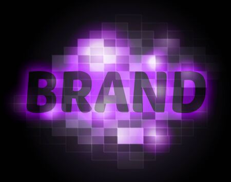 BRANDED: Brand Word Showing Trademark Brands Stock Photo