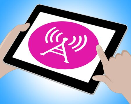 webpage: Wifi Webpage Showing Wireless Internet 3d Illustration Stock Photo