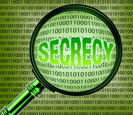 Data Secrecy Showing Classified And Private 3d Rendering Stock Photo