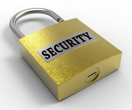 secure: Security Padlock Representing Secure Privacy 3d Rendering
