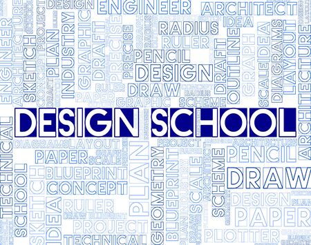 graphic designing: Design School Meaning Artwork Studying And College Stock Photo