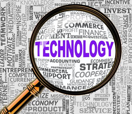 high tech: Technology Magnifier Representing High Tech 3d Rendering