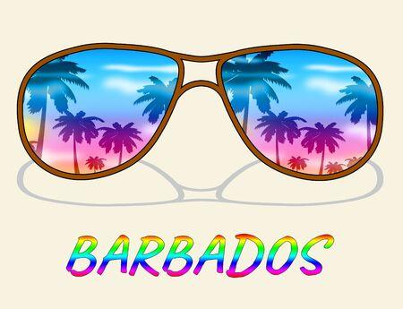 barbados: Barbados Vacation Indicating Caribbean Holiday And Vacations