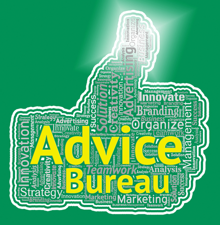 Advice Bureau Representing Help And Information Office Stock Photo